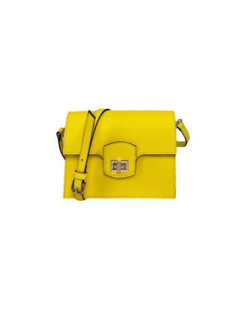 Γυναικεία τσάντα flap Colori Κίτρινο