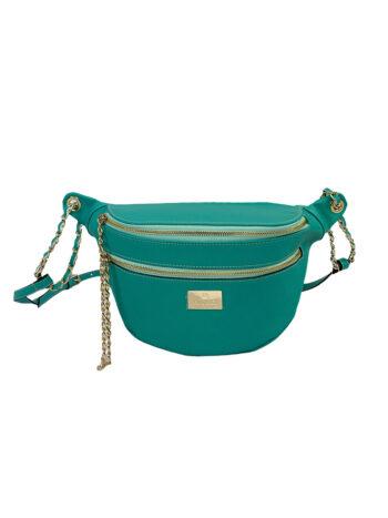 Γυναικεία τσάντα μέσης Colori Πετρόλ
