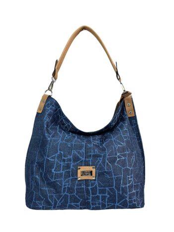 Γυναικεία τσάντα ώμου hobo Jasmine Μπλε