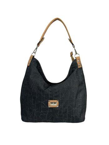 Γυναικεία τσάντα ώμου hobo Jasmine Μαύρο