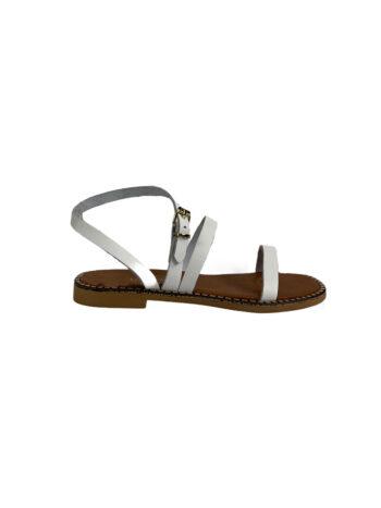 Γυναικείο Υπόδημα Δερμάτινο sandals Λευκό