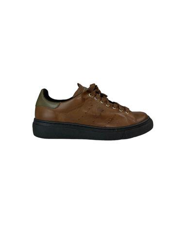 Γυναικείο Υπόδημα Δερμάτινο flat Sneakers Ταμπά